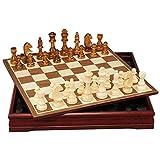 LOFAMI Juegos de Mesa Ajedrez Conjunto Internacional de Ajedrez con Tablero de ajedrez de Madera y Grandes Piezas de ajedrez for niños Adultos Ajedrez (tamaño : 45cm)