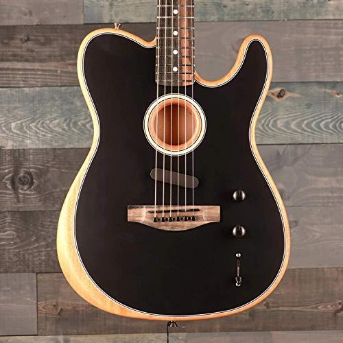 Fender American Acoustasonic Telecaster Acoustic-Electric Guitar (Black)