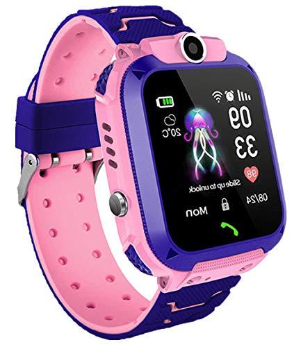 Smartwatch per bambini, IP67impermeabile, anti-smarrimento LBS, smart phone con funzione di chat vocale, sveglia SOS, smart watch per studenti per giochi di matematica, regali per ragazzi e ragazze