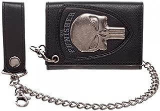 Marvel The Punisher Skull Logo Mens Biker Chain Wallet,Black,One Size