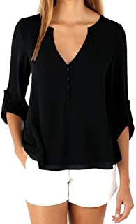 Gillberry Women's Blouse Women's Loose Long Sleeve Shirt Tank Tops Blouse