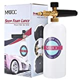 MATCC Lance à Mousse 1L Neige à Haute Pression pour Nettoyage Voiture Compatible Nilfisk C120 C130...