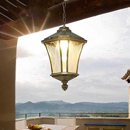 AISHANG Lámpara Colgante de Aluminio Tradicional para Exteriores, jardín, Villa, Patio, luz Colgante, cenador Ajustable, Pasillo para el hogar, Pasillo, balcón, lámpara Colgante, Garaje, Estante par