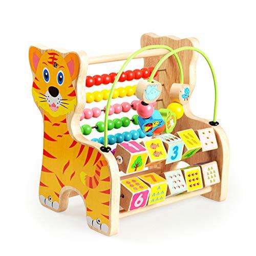 WHCXYLK Jouet Bois,Jouets Éducatifs À Usages Multiples pour Bébé Enfants Enfants Tout-Petits,Jouet Garcon Fille 0-2 Ans,Preschool Jouet Éducatif,Perles De Calcul