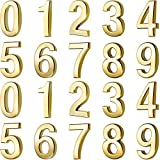 20 Pieces Mailbox Numbers 0 - 9 Address Numbers Self Adhesive Door Numbers Reflective Mailbox Numbers for House Mailbox (3 Inch, Gold)