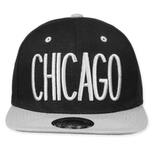 Original Snapback (One size, Chicago City Noir/Gris) + Original My CHICOS – Stickers