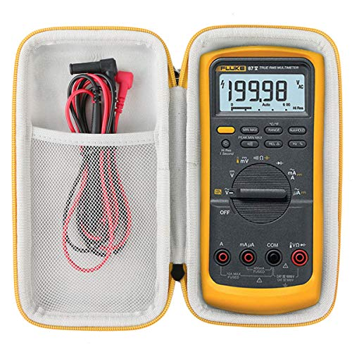 Khanka Hart Tasche Case für Fluke 87 V Echteffektiv-Digitalmultimeter Etui Schutzhülle.(nur tasche)