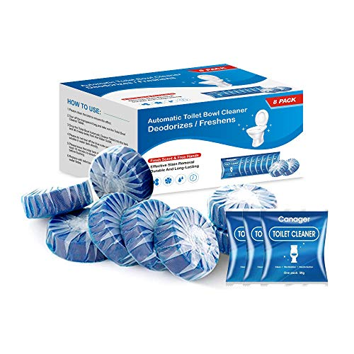 CANAGER Toilet Bowl Cleaner Tablets(8 Packs)