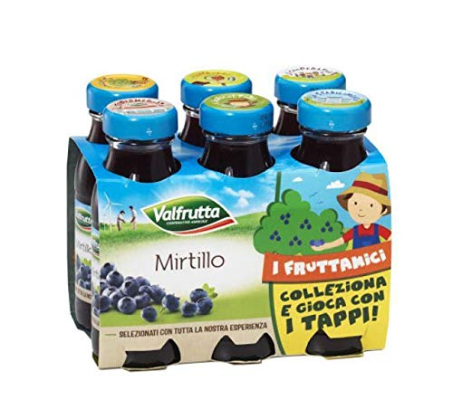 SUCCHI VALFRUTTA AL MIRTILLO 6 X 125 ML
