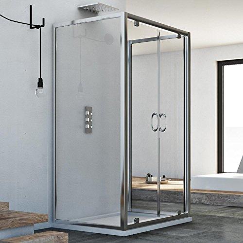 Idralite Sintesi Trio 2 Türen 3-seitige Duschkabine 70x80x70 cm H185 Klarglas