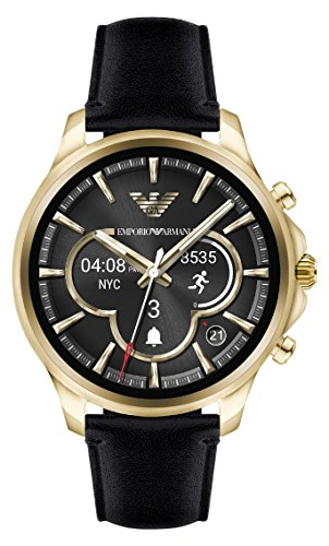 Emporio Armani Herren Digital Uhr mit Leder Armband ART5004