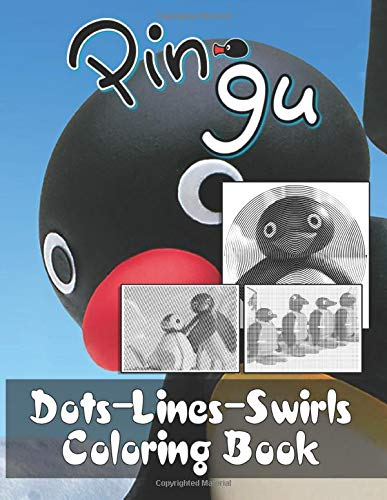 Pingu Dots Lines Swirls Coloring Book: Adult Activity Color Puzzle Books For Men And Women