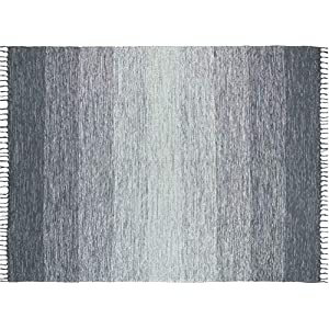 Chesapeake Cotton Ombre Blue Area Rug Large (5'x7′)