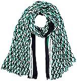 Tommy Hilfiger TH Print Scarf Pantalla DE Estampado DE Argyle, Verde primario, Talla única para Mujer