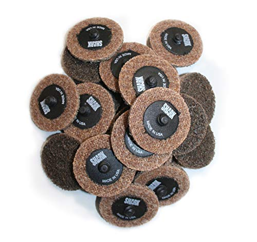 Shark Shark 13062 2-Inch Quick Change Surface Conditioning Discs, Brown, Pack-25, Grit-Coarse