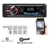 CREASONO DAB Autoradios: MP3-Autoradio mit DAB+, Bluetooth, Freisprecher, USB & SD, 4X 50 Watt (Digitales Autoradio)