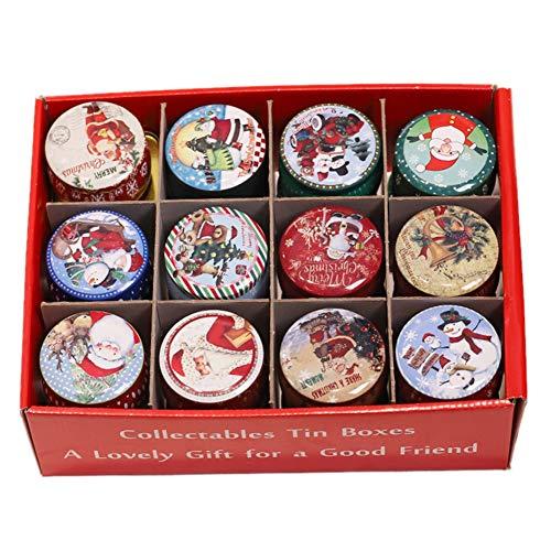 Set regalo di candele Candela in latta retrò Candela natalizia Allegra festosa Festa Stagione Forniture Xmas Regali di compleanno ideali per le donne