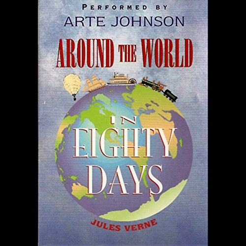 Around the World in 80 Days audiobook cover art