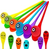 Halloween Party Favors - Halloween Egg and Spoon Game Set for 6 Players Kids and Adults Indoor Outdoor Halloween Fun Games Party Supplies for Classroom Activities Birthday Party