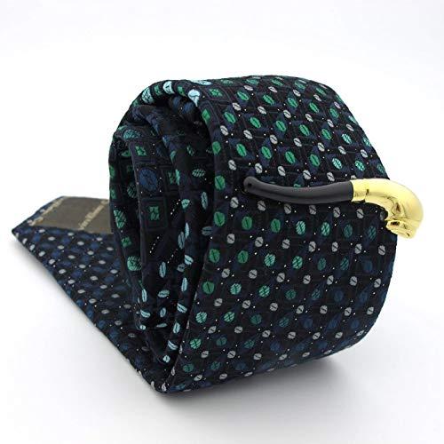 Owenqian Alfiler Corbata, Pisacorbatas, Clips de Corbata de diseñador Material de latón de Calidad Barra de Corbata de dólar Dorado para Hombres