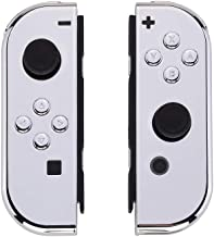 eXtremeRate Chrome Sliver Joycon Handheld Controller Housing with Full Set Buttons, DIY Replacement Shell Case for Nintendo Switch Joy-Con – Console Shell NOT Included