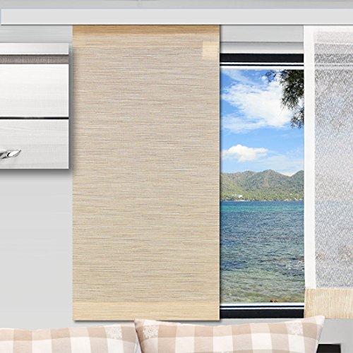 SeGaTeX home fashion Caravan-Flächenvorhang Marian 20cm Breit | Höhe 60 –120cm Nach Maß | Beige Flächengardine für Caravan Wohnwagen Wohnmobil