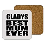 Gladys Best Mum Ever - Drink Coaster ドリンクコースター - 誕生日 クリスマス プレゼント