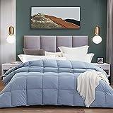Amazon Brand - Pinzon All-Season Hypoallergenic Down Alternative Quilted Comforter with Duvet Tabs, Grey