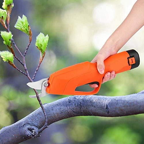 RENXR sans Fil Électrique Sécateur, Sécateur Cutter Élagage Outil De Jardin Rechargeable 12V Li-ION Branch Échenilloir pour Arbre Fruitier