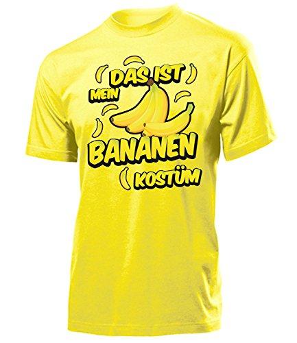 Bananen Kostüm Herren T-Shirt Motto Party Obste 1718 Karneval Fasching Faschings Karnevals Paar Gruppen Outfit Klamotten Oberteil Gelb S