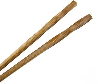 BambooMN - Bamboo Chopsticks Premium Grade Twisted Chopsticks Set 9