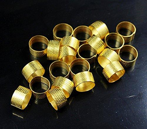 CHENGYIDA 10pcs Naaien Quilting Finger Beschermende Metalen Ring Thimble Goud Kleur, Thimble Naaien Quilting Metal Thimble ring DIY Craft accessoire Vingerbeschermer
