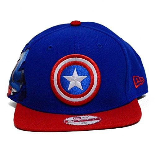 New Era Marvel Captain America 950 Hero Sider Snapback Baseball Cap