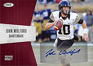 John Wolford autographed Football Card (Wake Forest Deamon Deacons) 2018 SAGE HIT Draft Rookie #A19