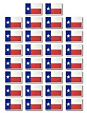 Fiomia Flag of Texas Temporary Tattoo Sticker Face Decal Body Glitter for Celebrations Ceremony Parades festivals of States Cities Civil Sports Games Universities Waterproof Removable 30Pcs