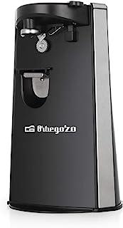 Orbegozo CU 6500 - Abrelatas eléctrico, incluye abridor de botellas y afilador de cuchillos, encendido automático por pres...