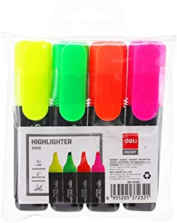 Deli 1Set/4Pcs Highlighter Student Makers Office Highlighter Student Stationery Office Stationery