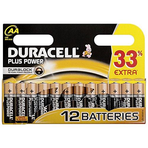 Duracell Plus Power Alkaline LR06 / MN1500 Mignon AA 12er Blister, Alkaline, 1,5V