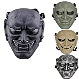 JFFCESTORE Airsoft Full Face Protective Mask with Google and Seamless Headscarf Tactical Skeleton Masks Gear for t Paintball Outdoor Cs War Game BB Gun Ghost Halloween Party Mask(Black)