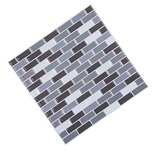 BESPORTBLE 3D Mozaïek Sticker Schil en Stok Tegel Verwijderbare Behang Zelfklevende Wandtegels Decoratieve Vinyl Tegel Stickers Voor Thuis Keuken