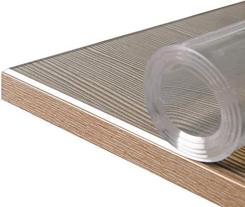 ZKORN 0,5 mm vloerbeschermingsmat, transparant, bureaustoel, onderlegger, beschermmat, verkrijgbaar in verschillende maten, voor tapijt en tapijten, aanpasbare afmetingen (60 x 100 cm)
