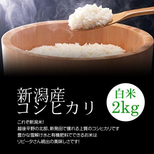 【お中元・夏ギフト】新潟産コシヒカリ 白米(精米) 2kg/冷めても美味しい新潟米