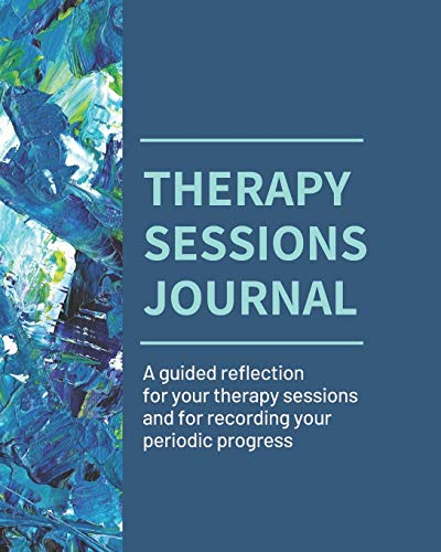 Therapy Sessions Journal (Black & White edition): A guided reflection for 6 months of therapy sessions and for recording your periodic progress