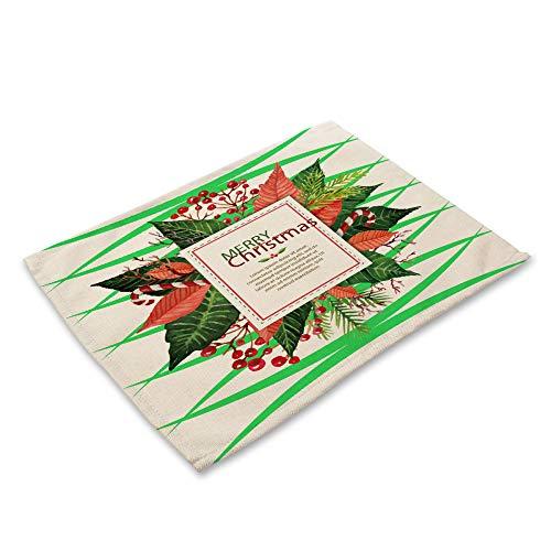 Hey shop decoraciones de Navidad vajilla durable estera de mesa té partido accesorios de cocina tazón posavasos
