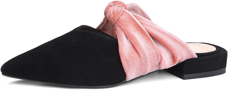 DecoStain Women's Bowknot Flat Mule