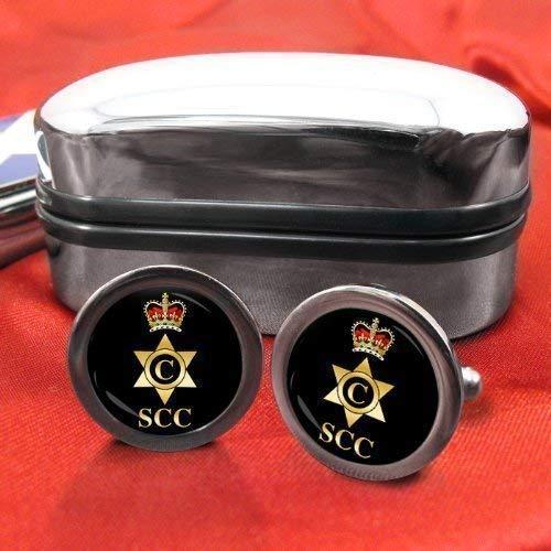 Sea Cadet Corps (SCC) Cook Chrome Boutons de manchette pour homme avec coffret cadeau