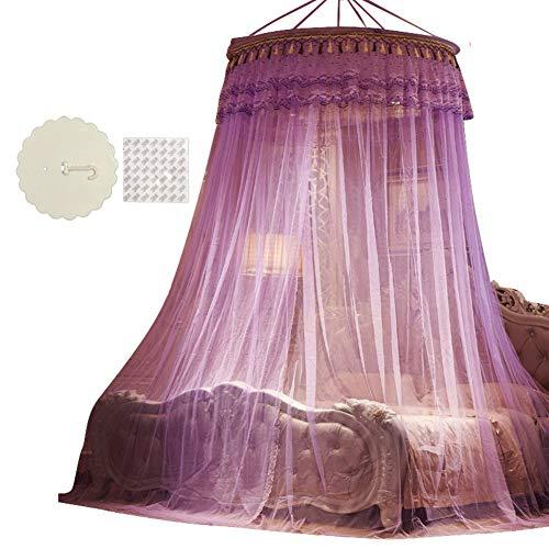 Irinay Princess Dome Cama Suspendida Canopy Gancho Casual Chic para Colocar En El Piso Mosquitera Infantil Simple Cortina Mosquitera D Twin2 (Color : Colour, Size : Size)