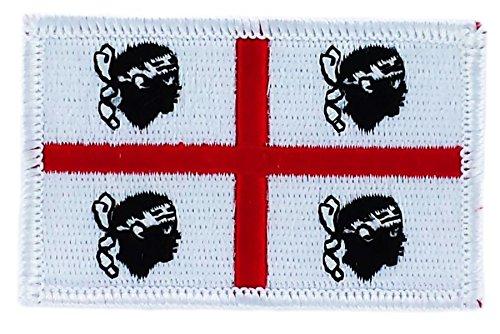 Parche écusson brodé bandera CERDEÑA sarde Italia termoadhesiva insignia bbason: Amazon.es: Productos para mascotas