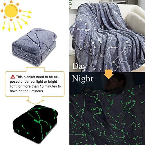 Product Image 2: Kanguru Glow in The Dark Constellation Blanket, Christmas Thanksgiving Blanket Gifts for Birthday Kids Women Girls Boy Best Friend