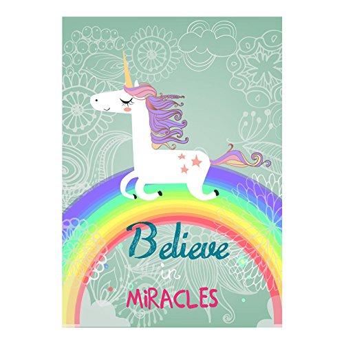 stika.co Poster Believe in Miracles, Formato A3, 297 x 420 mm, Accessori Decorativi per Camera dei Bambini, Carta per Poster di Alta qualità